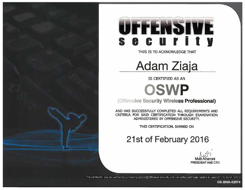 Adam Ziaja Cyber Security Expert